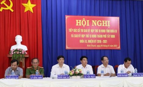 Bí thư Tỉnh ủy, Chủ tịch HĐND Tỉnh Nguyễn Thành Tâm tiếp xúc cử tri phường Ninh Thạnh