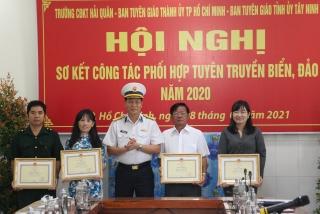 Sơ kết công tác phối hợp tuyên truyền biển, đảo năm 2020