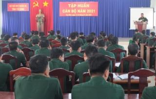 Bộ CHQS tỉnh tổ chức khóa tập huấn cán bộ năm 2021