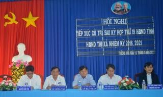 Đại biểu HĐND tỉnh, huyện tiếp xúc cử tri địa phương.