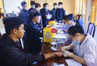 Tân Châu giám sát HIV, ma túy đối với công dân trúng tuyển nhập ngũ năm 2021