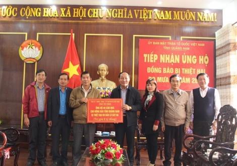 Tây Ninh trao tặng 40 căn nhà cho đồng bào Quảng Nam bị thiệt hại do mưa lũ