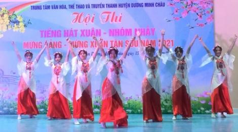 Huyện Dương Minh Châu tổ chức hội thi Tiếng hát xuân-Nhóm nhảy