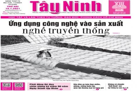 Điểm báo in Tây Ninh ngày 18.01.2021