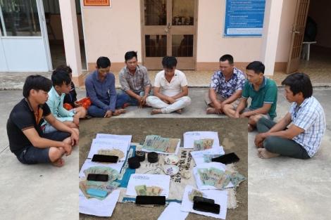 Công an Tân Biên: Bắt sòng tài xỉu trong vườn cao su
