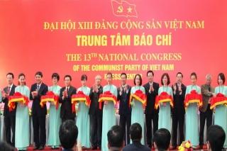 Khai trương Trung tâm Báo chí Đại hội đại biểu toàn quốc lần thứ XIII của Đảng