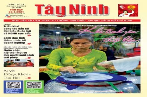 Điểm báo in Tây Ninh ngày 23.01.2021
