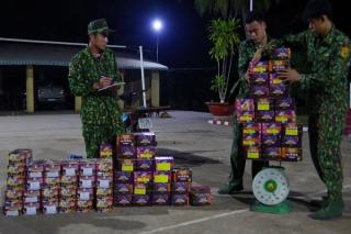 Đồn Biên phòng Tân Hà: Ngăn chặn kịp thời vụ vận chuyển 190kg pháo lậu