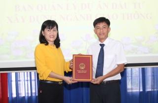 Ông Đặng Xuân Trường được bổ nhiệm giữ chức Giám đốc Ban Quản lý Dự án Đầu tư Xây dựng ngành Giao thông tỉnh