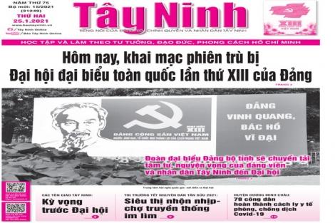 Điểm báo in Tây Ninh ngày 25.01.2021