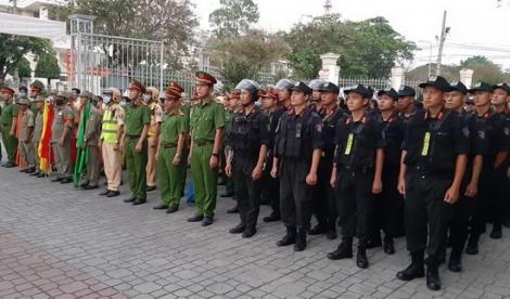 Công an TP. Tây Ninh ra quân đảm bảo an ninh trật tự, trật tự an toàn giao thông