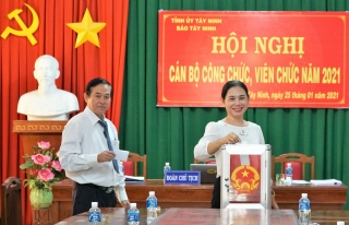 Báo Tây Ninh: Hội nghị cán bộ công chức, viên chức, người lao động năm 2021