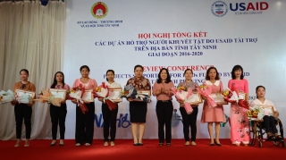 Tổ chức Hội nghị Tổng kết các Dự án Hỗ trợ người khuyết tật do USAID tài trợ trên địa bàn tỉnh Tây Ninh giai đoạn 2015 – 2020
