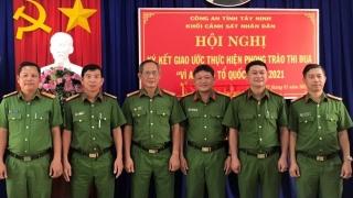 Khối Cảnh sát Công an Tây Ninh tổ chức Hội nghị ký kết giao ước thi đua
