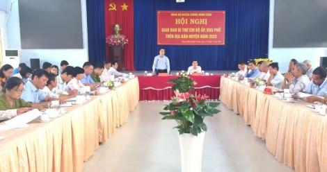 Huyện Dương Minh Châu: Hội nghị giao ban Bí thư Chi bộ ấp, khu phố năm 2020