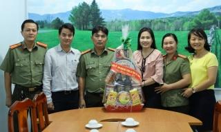 Công an Tây Ninh thăm, chúc tết Đài Phát thanh-Truyền hình tỉnh