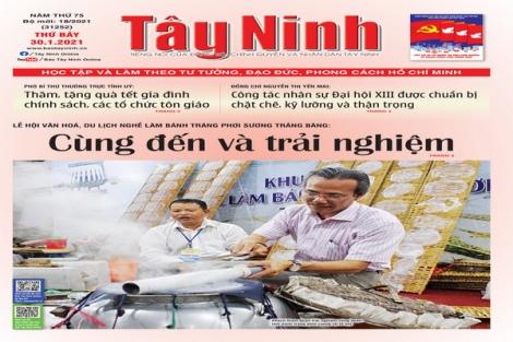 Điểm báo in Tây Ninh ngày 30.01.2021