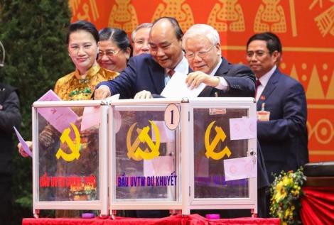 Tổng Bí thư, Chủ tịch nước, Thủ tướng và 6 Uỷ viên Bộ Chính trị trúng cử BCH T.Ư khoá XIII