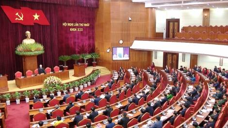 Toàn cảnh Hội nghị lần thứ nhất Ban Chấp hành Trung ương khóa XIII