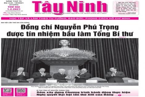 Điểm báo in Tây Ninh ngày 01.02.2021