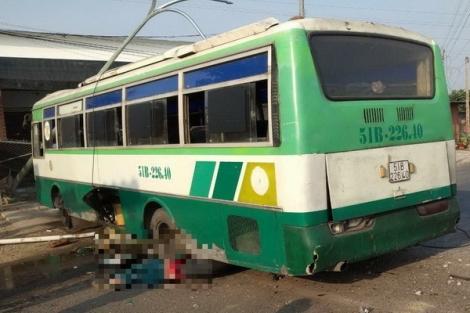 Trảng Bàng: Xe buýt nghi mất lái, lao qua dãy phân cách đụng 1 người tử vong