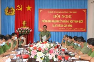 Công an Tây Ninh: Tập trung bảo đảm an ninh trật tự Tết Nguyên đán