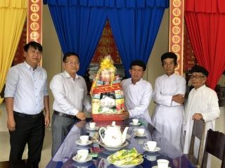 Uỷ ban MTTQ Việt Nam tỉnh: Thăm, chúc Tết các tôn giáo