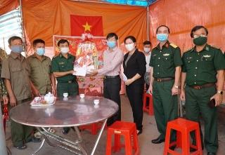 Lãnh đạo tỉnh Tây Ninh thăm, chúc Tết các đơn vị lực lượng vũ trang