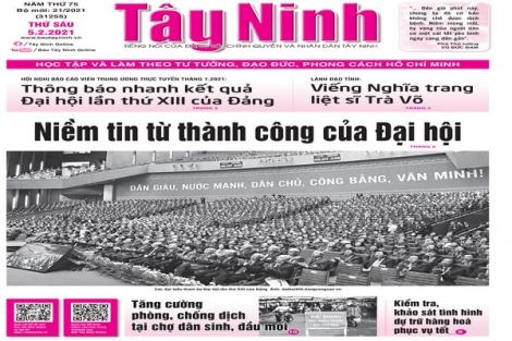 Điểm báo in Tây Ninh ngày 05.02.2021