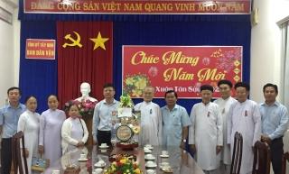 Tây Ninh: Các tổ chức tôn giáo chúc Tết Ban Dân vận Tỉnh ủy