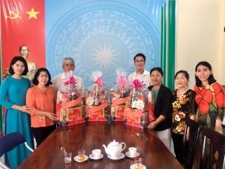 Lãnh đạo huyện Dương Minh Châu thăm, chúc Tết các Hội thuộc khối Văn hóa- Xã hội