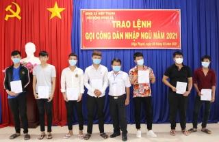 Gò Dầu trao lệnh gọi công dân nhập ngũ năm 2021