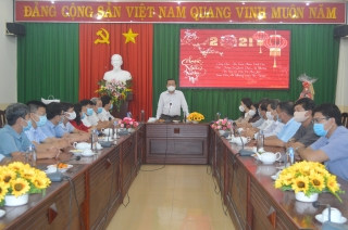 Phó Bí thư Thường trực Tỉnh ủy Phạm Hùng Thái chúc tết lãnh đạo thị xã Hòa Thành