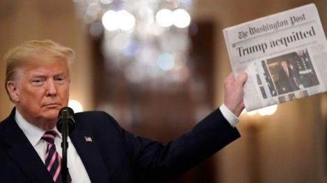 Sau khi trắng án ở phiên luận tội lần 2, ông Trump nói gì?