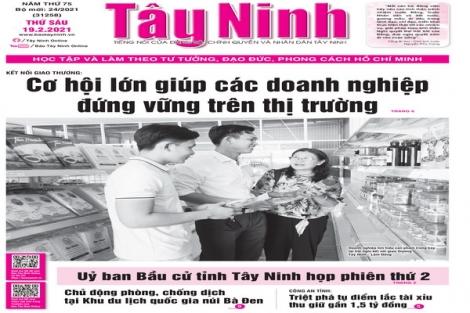 Điểm báo in Tây Ninh ngày 19.02.2021