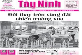 Điểm báo in Tây Ninh ngày 22.02.2021