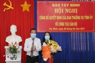 Bà Kim Thị Hạnh giữ chức vụ Phó Tổng Biên tập Báo Tây Ninh