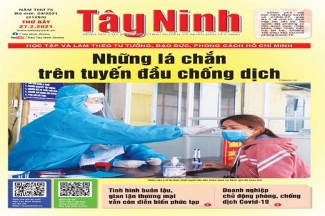 Điểm báo in Tây Ninh ngày 27.02.2021