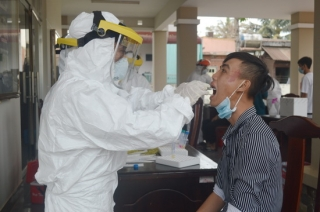 Hòa Thành: Xét nghiệm SARS-CoV-2 cho toàn bộ công dân nhập ngũ năm 2021
