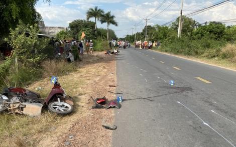 3 xe mô tô đối đầu,  1 người tử vong