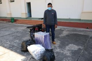 Công an huyện Tân Châu bắt đối tượng vận chuyển hàng cấm