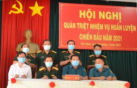 Tân Châu quán triệt nhiệm vụ huấn luyện chiến đấu năm 2021