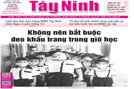 Điểm báo in Tây Ninh ngày 03.03.2021