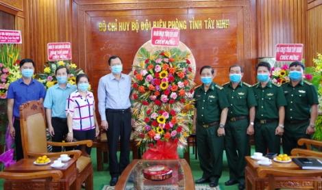 Các đơn vị thăm, chúc mừng BĐBP Tây Ninh nhân ngày truyền thống