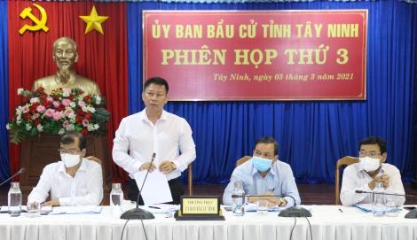 Phiên họp thứ 3 của Ủy ban bầu cử tỉnh: Tăng cường công tác tuyên truyền
