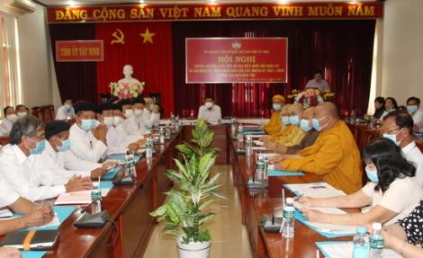 Hội nghị tuyên truyền cuộc bầu cử đại biểu Quốc hội khóa XV và đại biểu HĐND các cấp nhiệm kỳ 2021-2026 trong tôn giáo, dân tộc