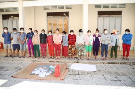 Công an huyện Châu Thành: Triệt xóa tụ điểm đánh bạc thu giữ hàng trăm triệu đồng