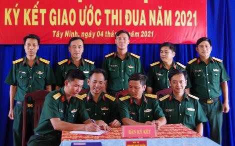 Sư đoàn 5: Ký kết giao ước thi đua năm 2021