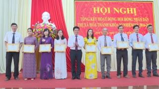 HĐND thị xã Hoà Thành tổng kết nhiệm kỳ 2016 - 2021