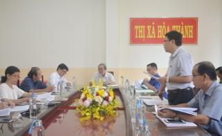 Ủy ban bầu cử thị xã Hòa Thành họp phiên thứ 4 triển khai công tác bầu cử